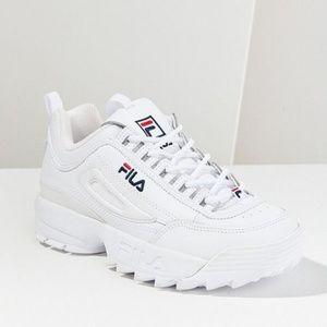 FILA Disruptor 2 Premium Mono Sneaker NWT